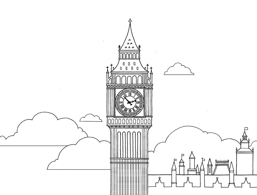 башня Биг Бен фото