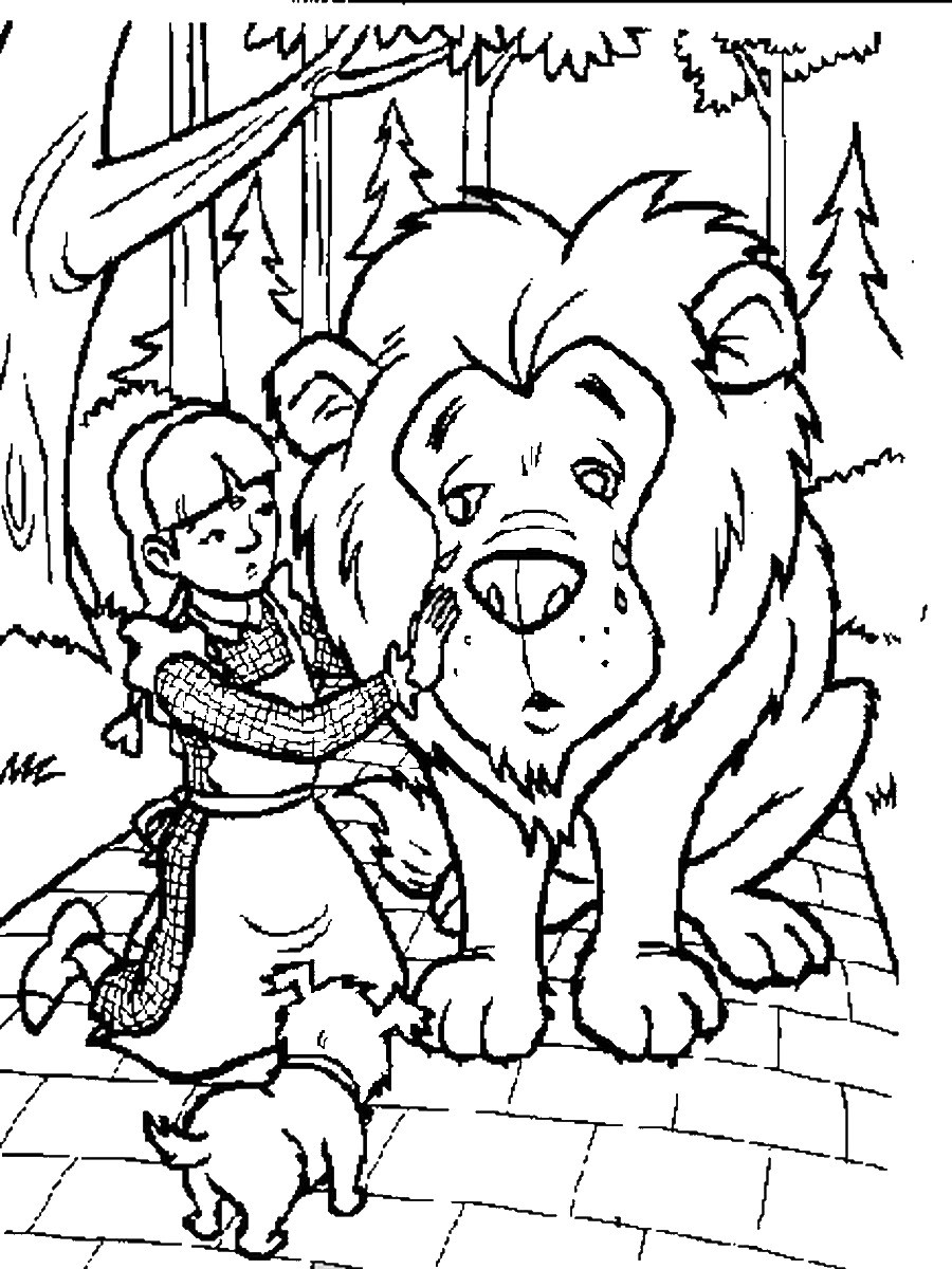 Элли и Трусливый Лев