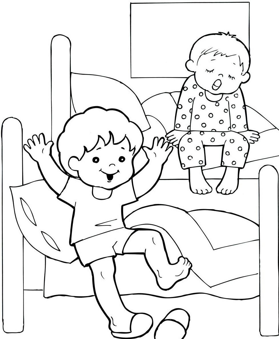 Раскраска режим у детей