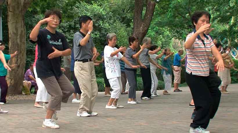 Тайцзицюань в парках Китая
