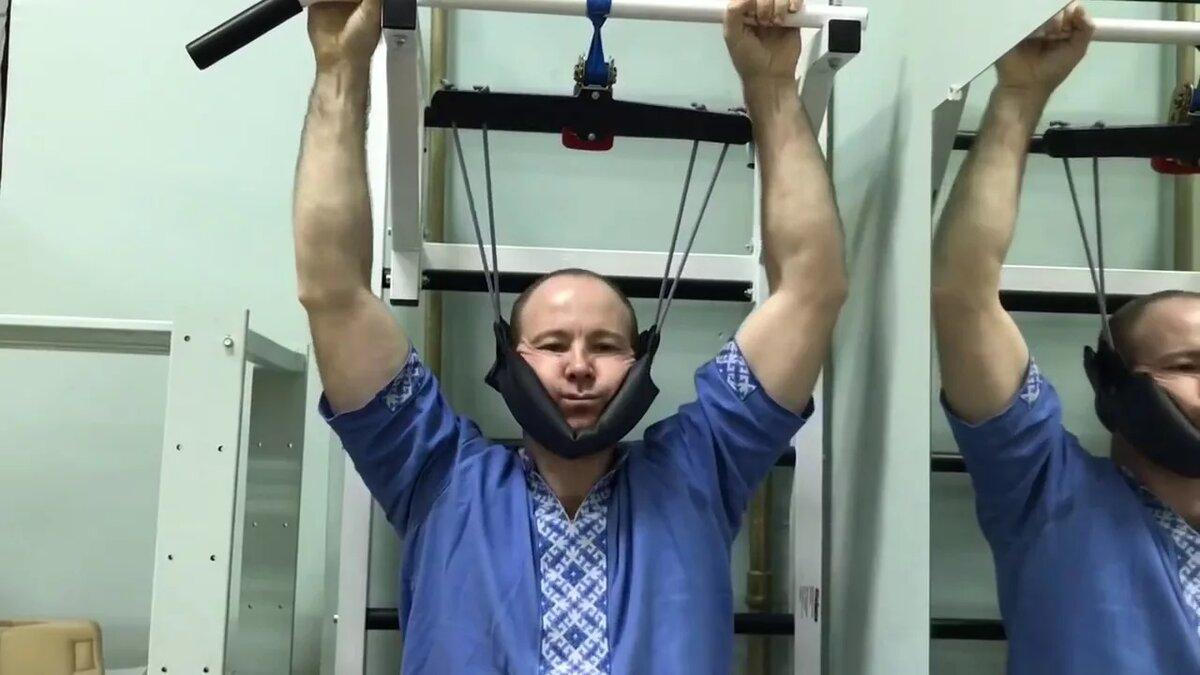 Тренажер для подвешивания за голову