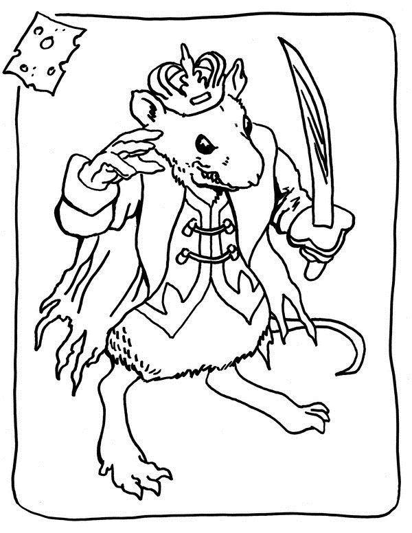 раскраска мышиный король