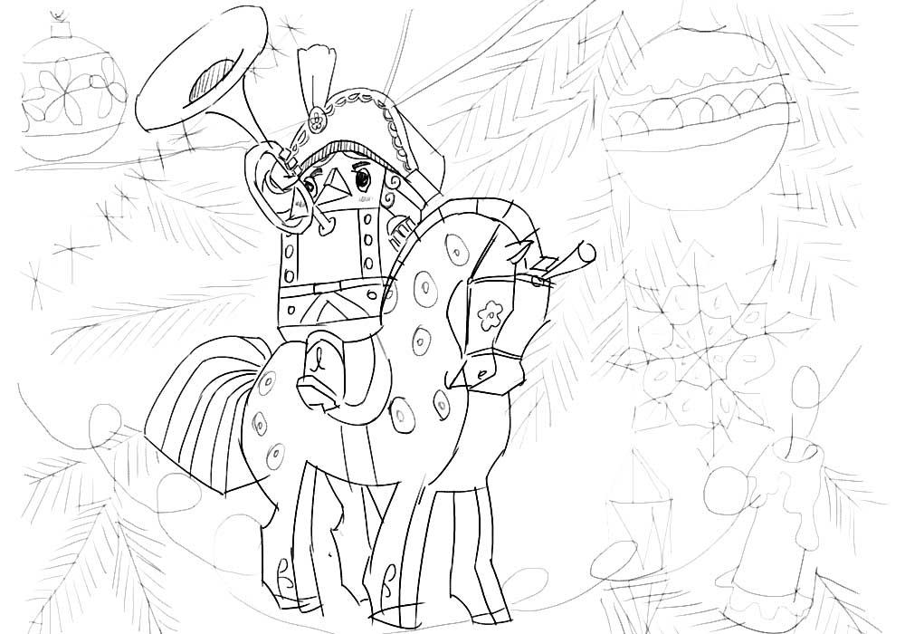 Щелкунчик на коне