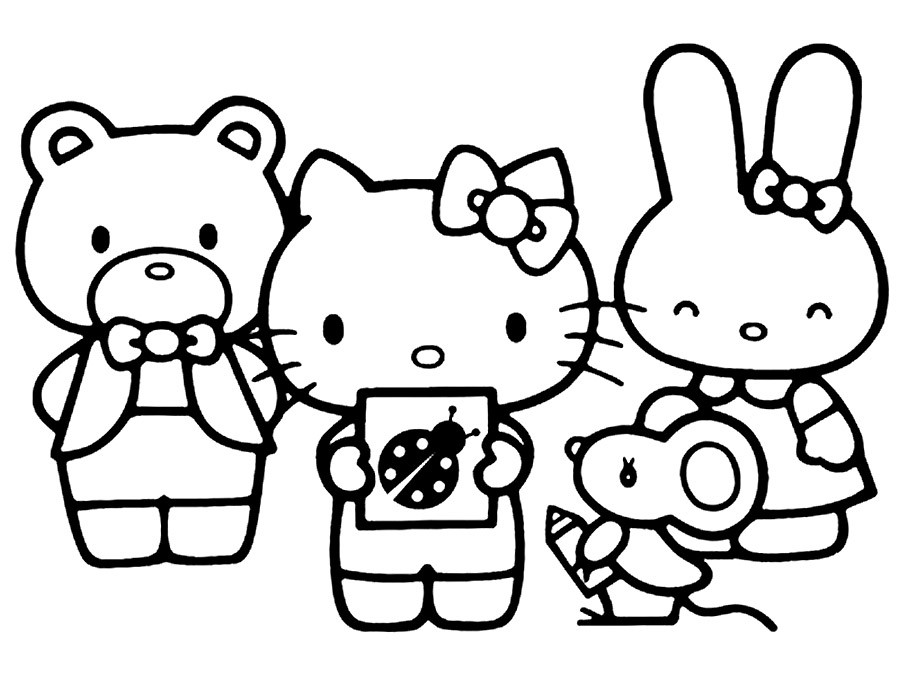 Китти с друзьями