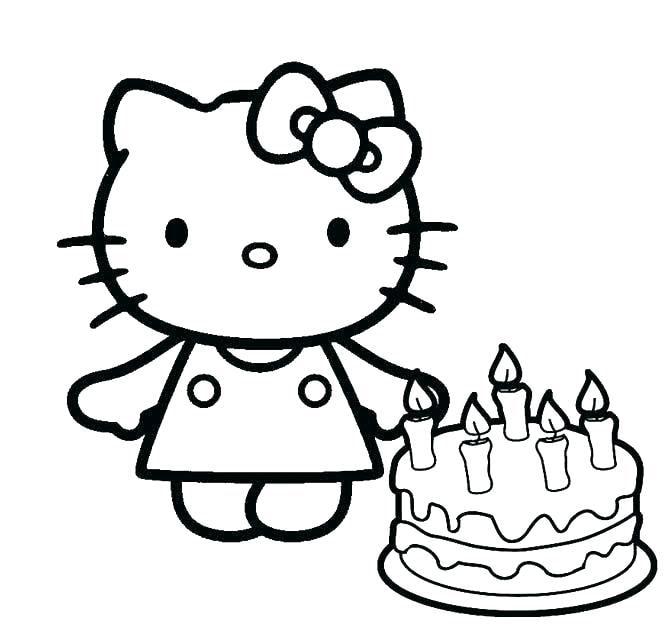 Хелло Китти с тортом