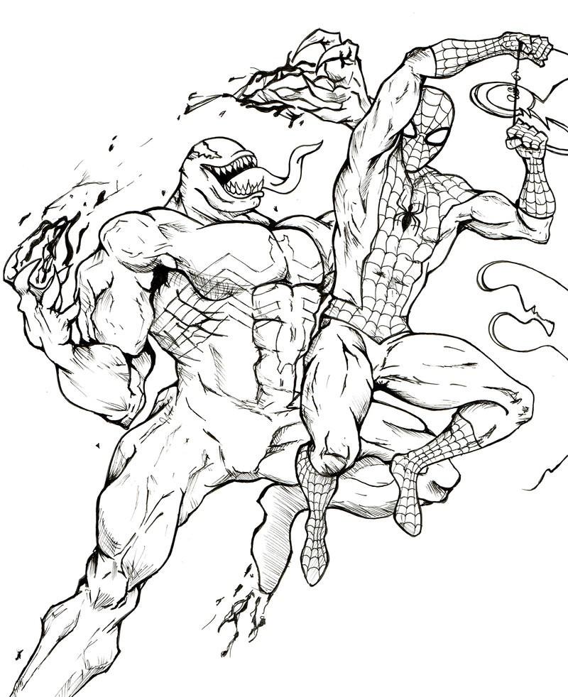 Человек-паук сражается с Веномом