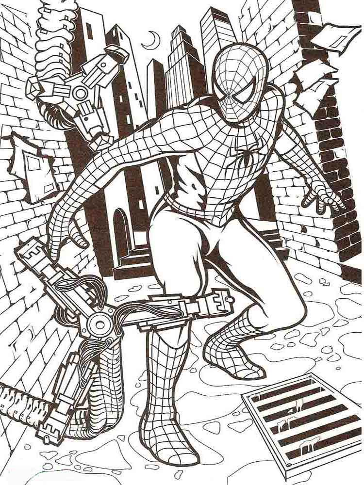 раскраска Человек-паук 31