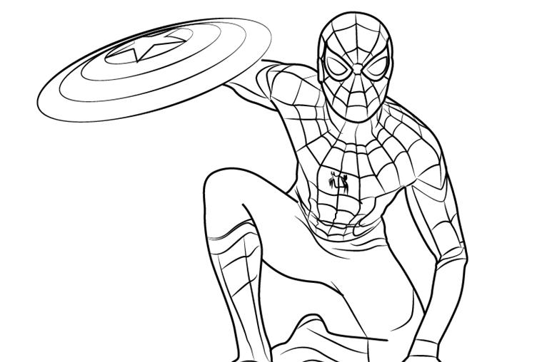 Раскраска Человек-паук 18