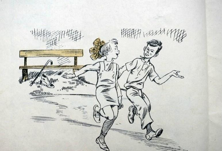 Женя и Витя уже весело бегут