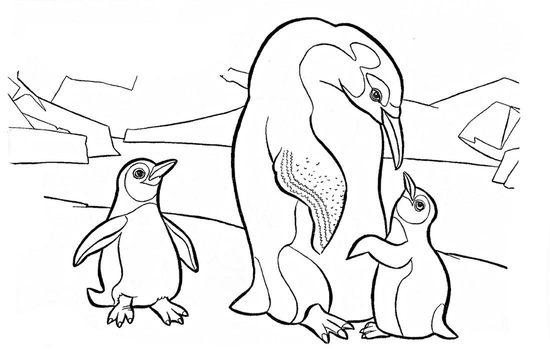 Пингвин с пингвинятами 4