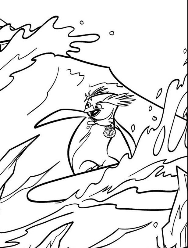 Раскраска лови волну
