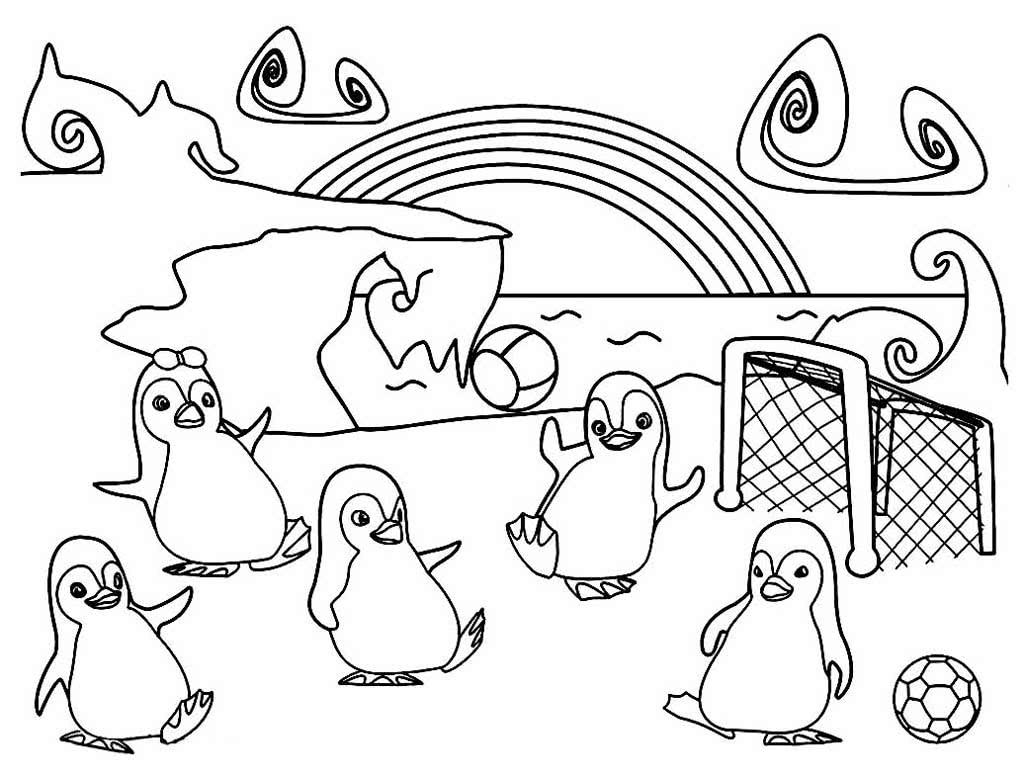 Пингвины для раскраски