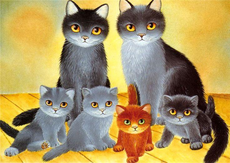 Семья кошек 4