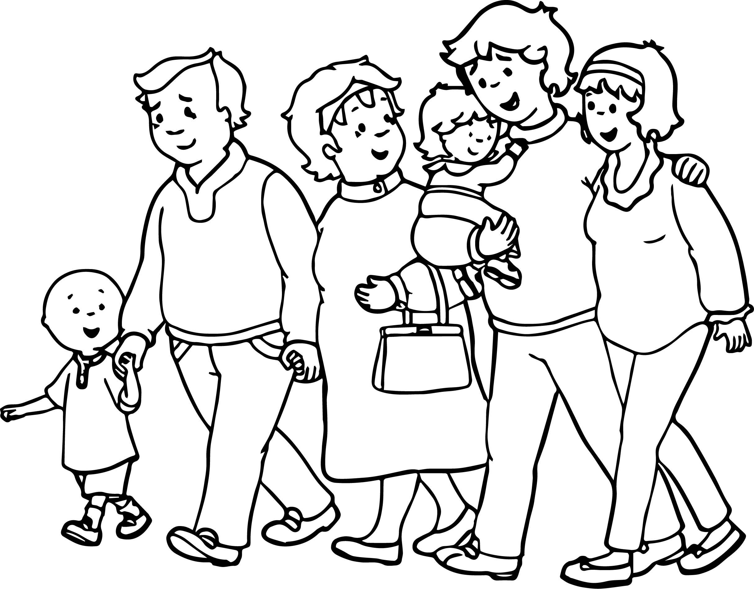 Раскраска семья