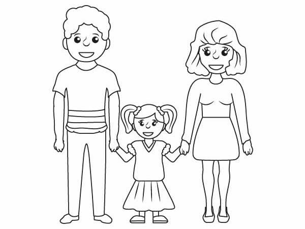 Раскраска папа и мама