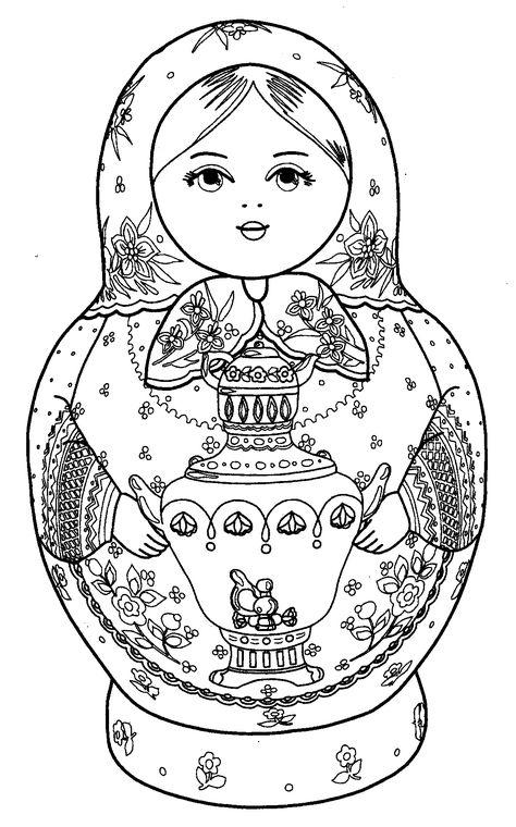 кукла с самоваром