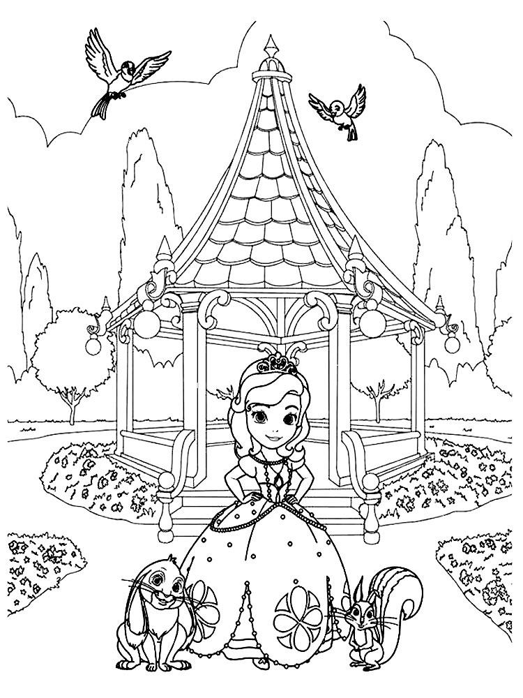 Раскраска принцесса София | andrey-eltsov.ru