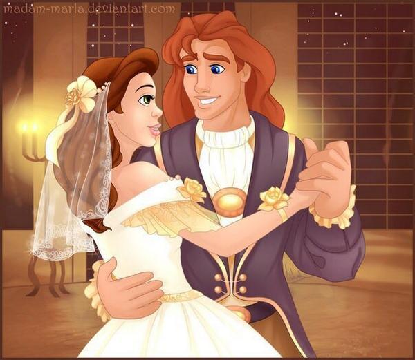 Свадьба Белль и принца Адама