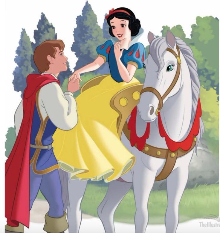 Белль на белой лошади