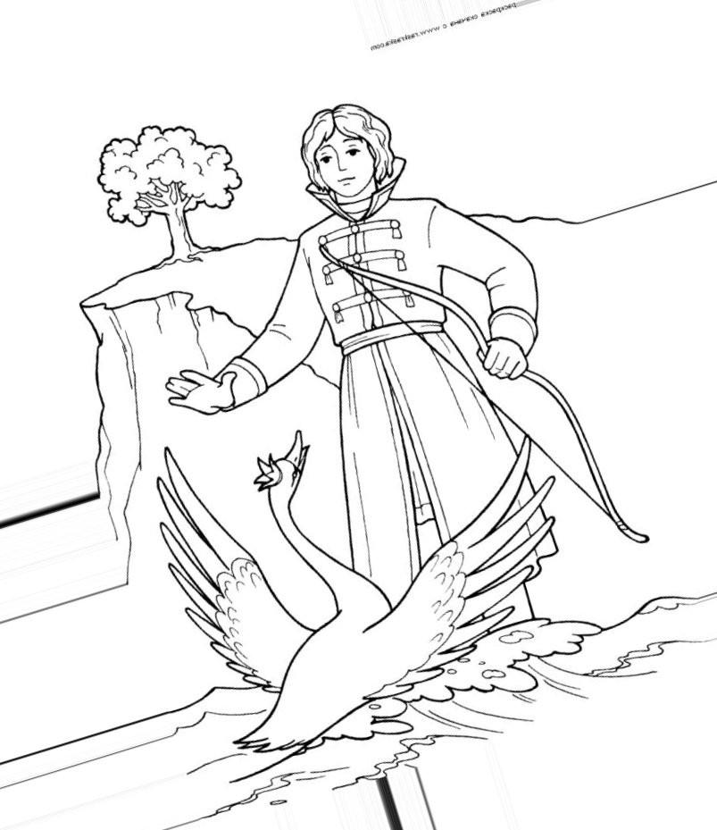 князь Гвидон и лебедь