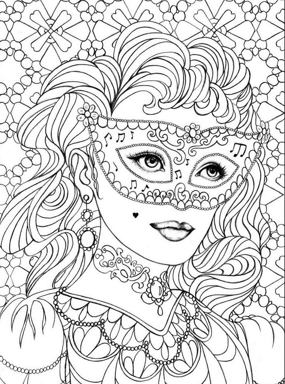 Девушка в маске 13