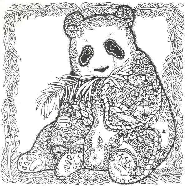 раскраска панда 38