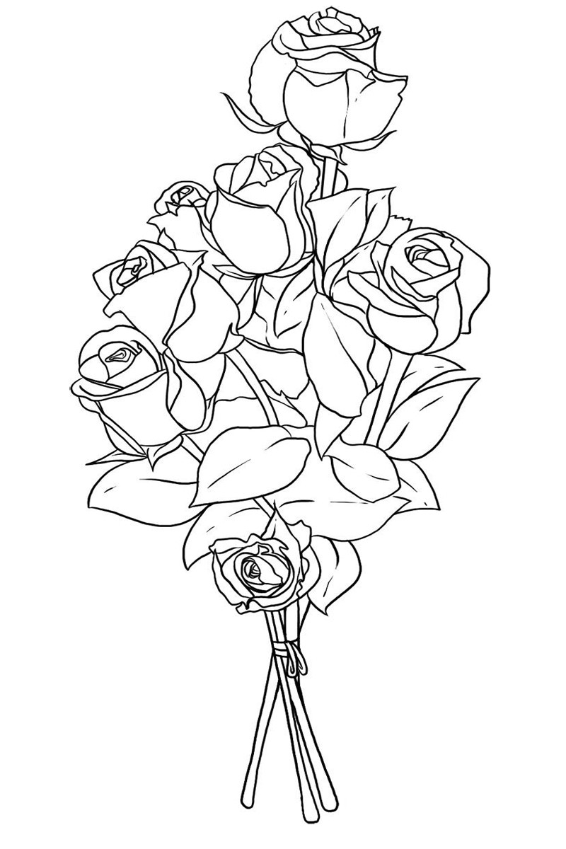букет роз рисунок 48