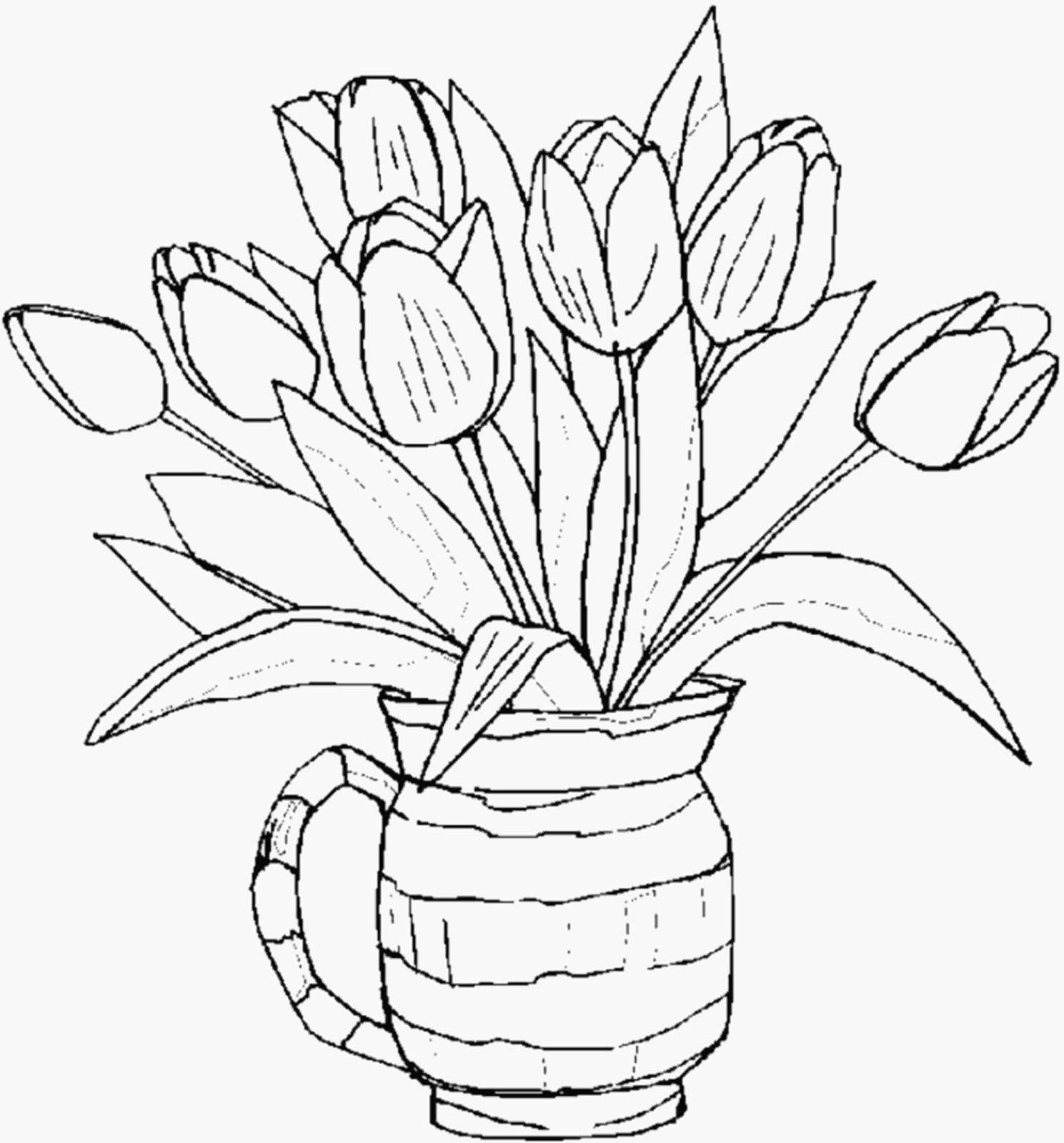 тюльпаны рисунок 52