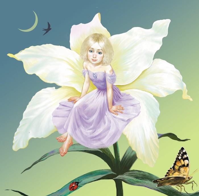 Дюймовочка в цветке