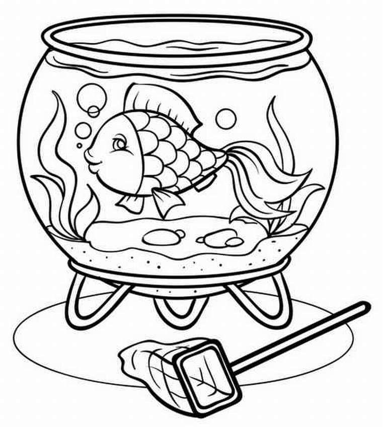Круглый аквариум рисунок