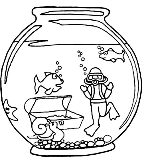 Мультяшный аквариум