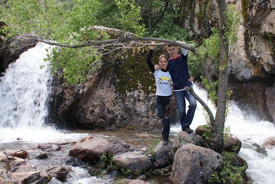 водопад на Кызылсу