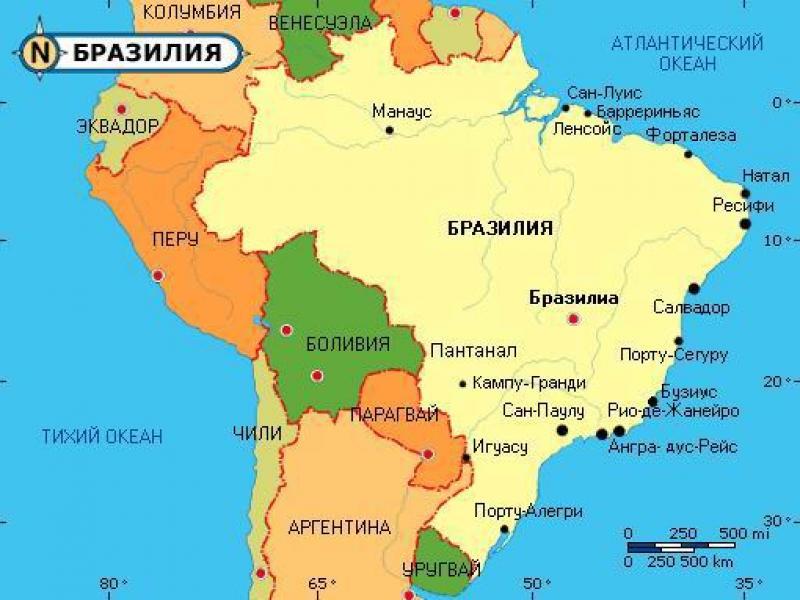 Карта Бразилии 19