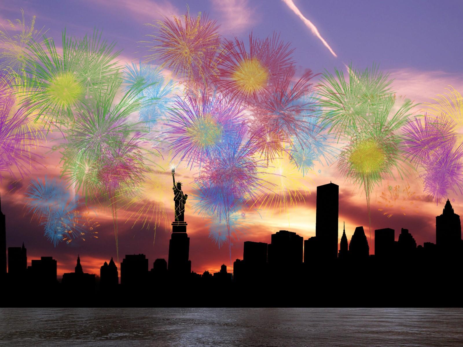 Салют в Нью-йорке фото 6