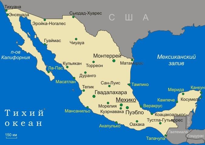 Карта Мексики 31