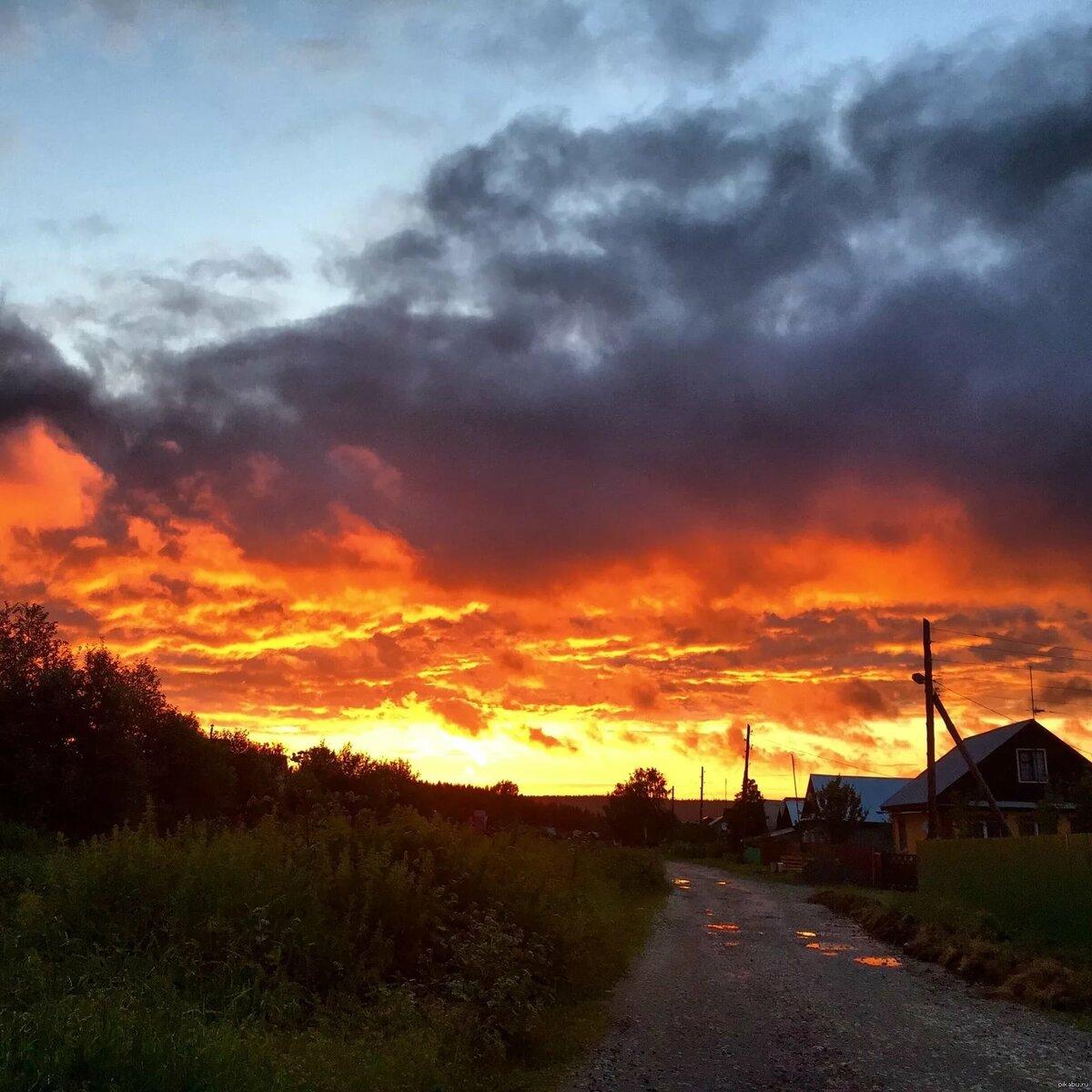 закат в деревне 5