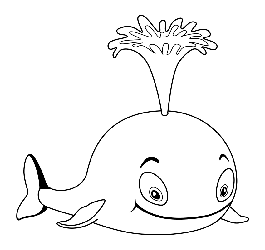 Раскраска кит 63