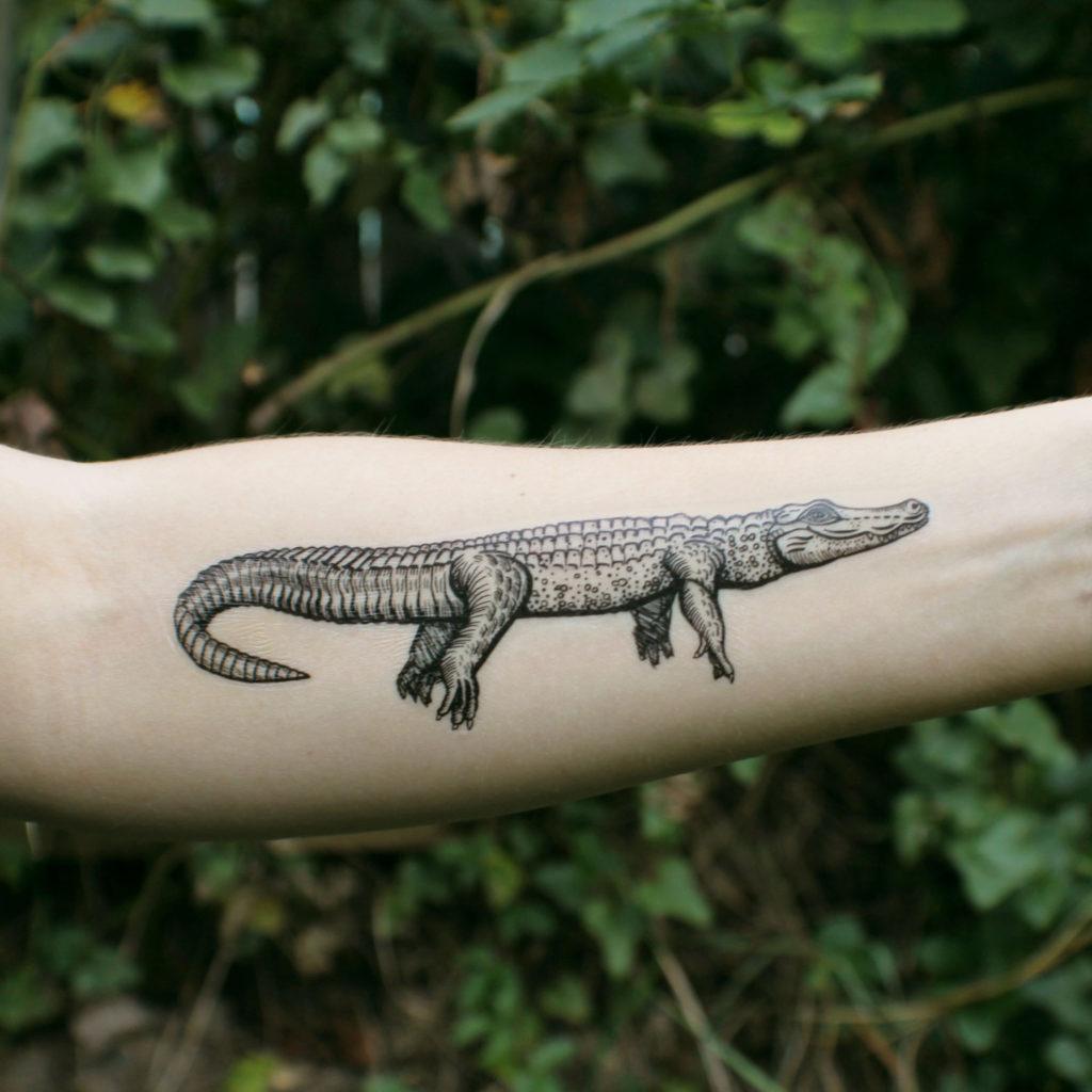 Тату крокодил 34