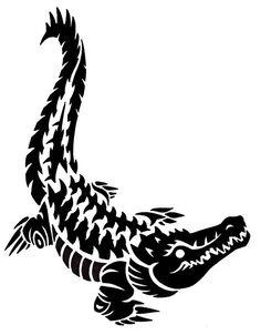 Трафарет крокодила 7