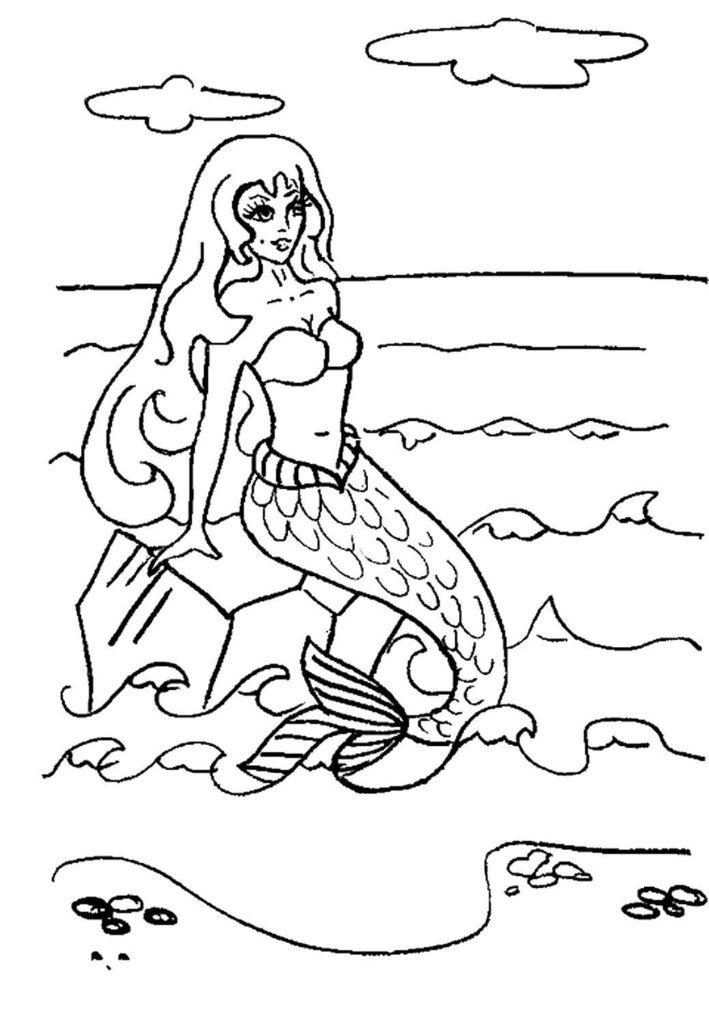 Раскраска русалочка 48