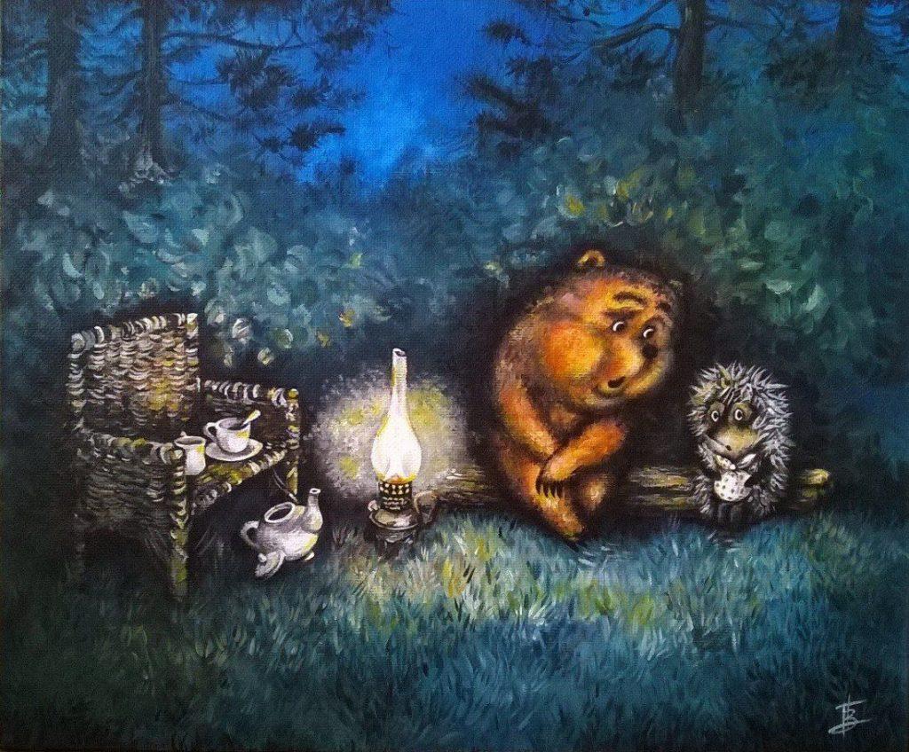 Ёжик и медвежонок фото
