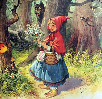 Красная Шапочка с ромашками