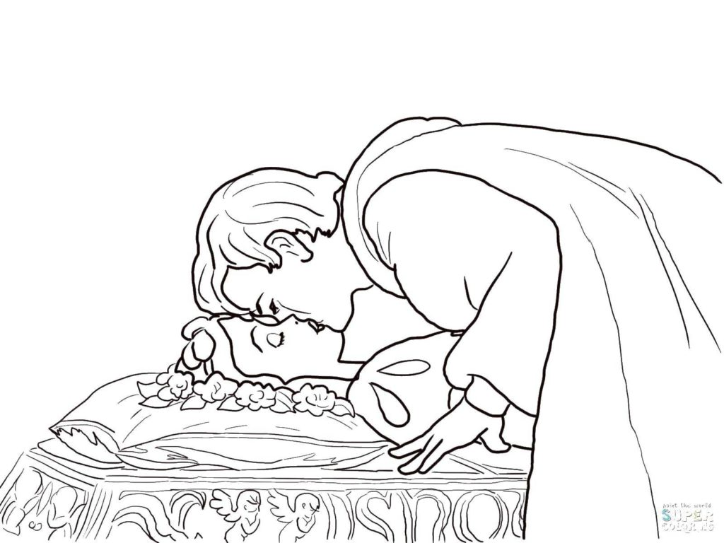 Принц целует принцессу