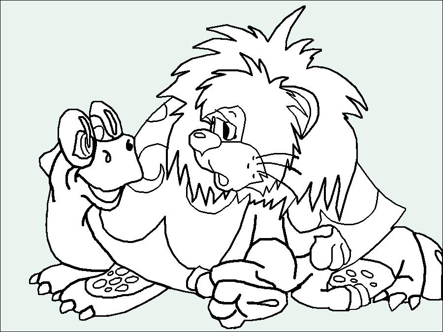Раскраска львёнок черепаха 30