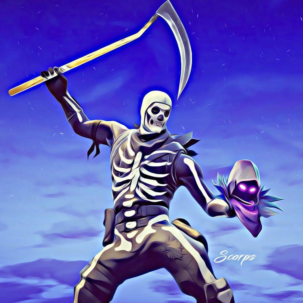 Скелет с косой 67