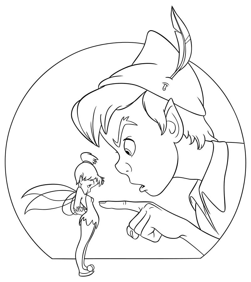 Раскраска Питер Пэн 4