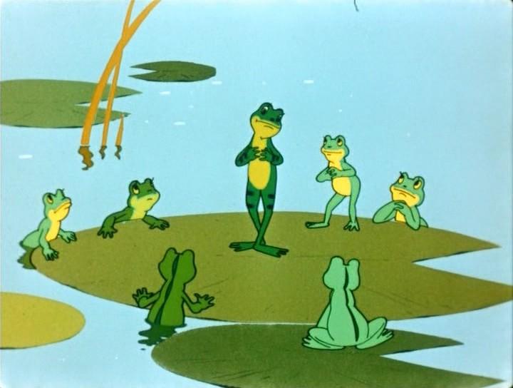 Лягушка в пруду 8
