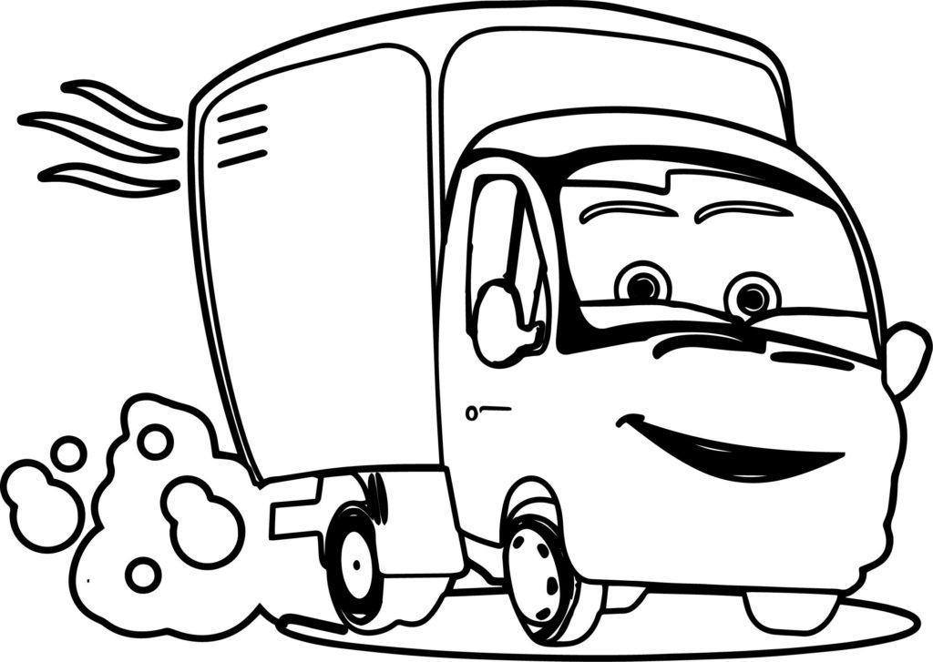 Раскраска грузовичок Лёва 59