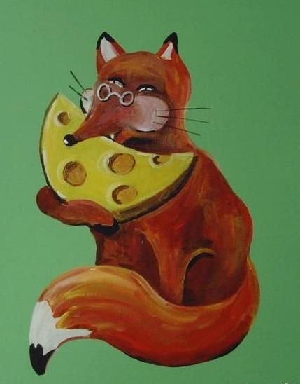 лисица с сыром